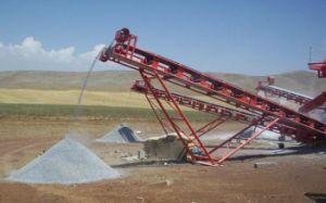 Heavty lugares de la correa de caucho cinta transportadora de la minería del carbón, minería, arenas, piedras.