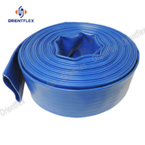 Larga vida de servicio y manguera de PVC resistente al ácido Layflat