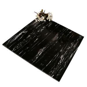 De zwarte Kleur poetste Verglaasde Porselein & Ceramiektegel voor Vloer en Muur op