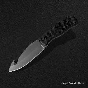Cuchillo de hoja fija con mango de fibra de carbono (#3793-717)