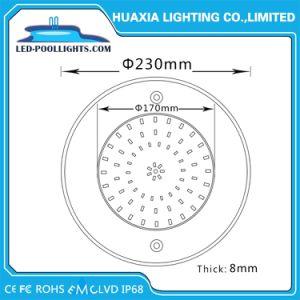 36W 316 acero inoxidable 8mm de espesor bajo el agua piscina RGB LED de luz