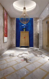 Waterjet Tegels van de Bevloering en van de Muur van het Porselein van de Bloem van Cuttering de Patroon Verglaasde Marmeren