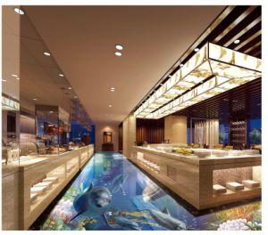 背部地上の壁および床のための3D水晶磁器の磨かれたタイル