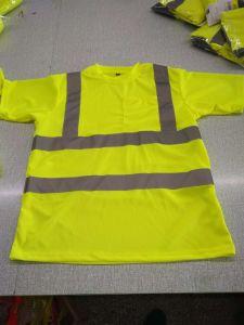 De Overhemden hallo Hoge Vis van het Polo van mensen namelijk de werk-Slijtage van de Veiligheid van de Koker van het Zicht Kort Overhemd