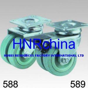 Double roue en caoutchouc gris Roulette pivotante