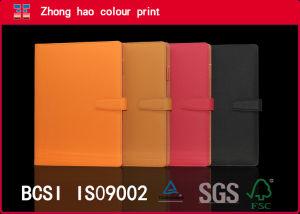 Professional Custom/A4 PU Couro Notebook espiral solto com Ribbon (150531001)