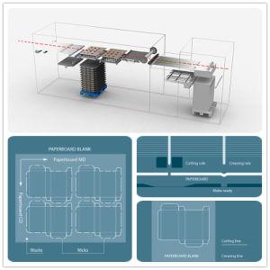 Vorlagenglas-sterben manuelle hohe Leistungsfähigkeits-Karton-Karte Scherblock-faltende Maschine