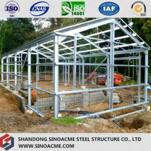 Estructura de acero de la luz de prefabricados de edificio para residencia
