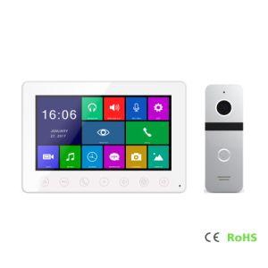 HD Home Security 7 pulgadas de interfonía intercomunicador Video Portero con la memoria