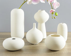 Creative Handmade White Ceramic Simple Vases Porcelain Vase Cina per Homes Decorations