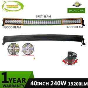 40 pulgadas 240W LED CREE IP67 de la barra de la luz de trabajo curvo