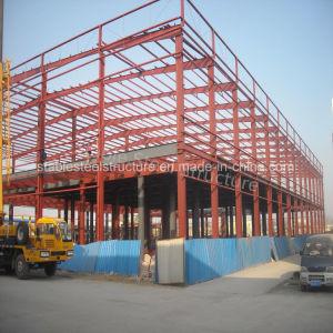 Estructura de acero de construcción rápida de construcción con parapeto y el entresuelo de pared