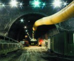 O duto de ventilação flexível para minas e túneis
