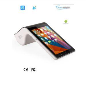 Umfassen mobiles Android PT7003 Positions-Terminal NFC Magnatic Chipkarte-drahtlosen Scanner WiFi 4G Bluetooth Thermodrucker und Mini-TF-Karte
