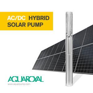 AC/DC hybrider Solarmaximaler maximaler Kopf der wasser-Pumpen-4sp5/12 des Fluss-10.2m3 136m Selbst-AC/DC