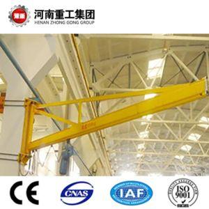 FEM/ISOの標準0.25-16t CE/SGSの証明書が付いている柱によって取付けられる回転のジブクレーン