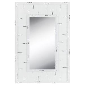 De aangepaste Creatieve Witte Spiegel van Beadboard van de Muur