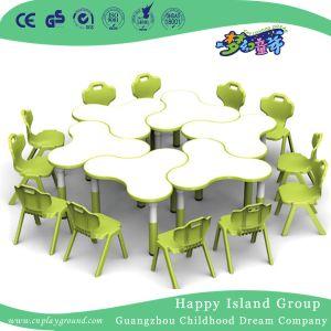 Jardín de infantes niños madera Tabla de modelos de trébol (HG-4801)