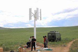 휴대용 100W 12V/24V 수직 축선 바람 터빈 발전기 가격