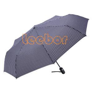 開いた自動車および近く最もよい旅行折りたたみ傘