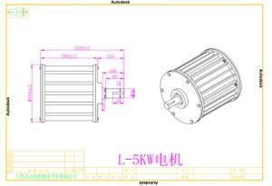 5kw Generator van de 96V/120V/220V de Lage T/min AC Permanente Magneet