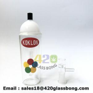 vasca di gorgogliamento in-linea dell'impianto offshore della vernice di spruzzo di 14mm Koklon con il tubo di acqua di fumo di vetro della cupola e del chiodo