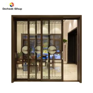 Double personnalisée porte en verre trempé Prix avec matériau aluminium Portes et fenêtres coulissantes