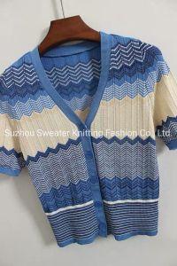 La primavera y otoño Últimas señoras V-cuello Cardigan jersey tejido
