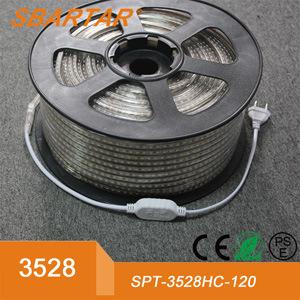 Una sola fila super brillante LED SMD3528 120/M de las luces de LED DE TIRA Flexible de 110V 220V