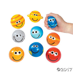 Bola animosa de goma de la tensión de la espuma del poliuretano suave de la sonrisa