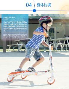 Three-Wheeled Trikke Scooter eléctrico ou Frog Kick Scooter tesoura para crianças e adultos