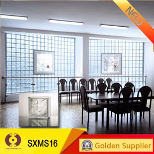 De vidro transparente de material de construção de alvenaria de blocos de vidro de azulejos de parede (SXMS16)