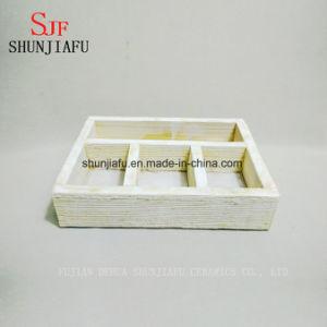 Малые квадратные деревянные плантаторы цветочного горшка
