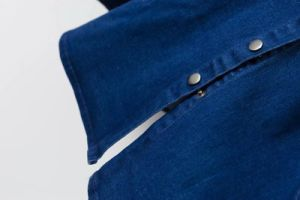 Singolo vestito dai jeans del denim delle donne di Breasted di modo
