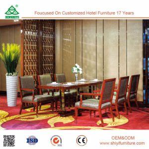 Hotel de diseño moderno y nuevo juego de comedor de madera muebles mesa de comedor con estructura de madera Silla de Comedor
