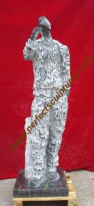 Het Marmeren Beeldhouwwerk dat van de steen Abstract Standbeeld voor de Kunst van de Tuin snijdt (sy-A012)
