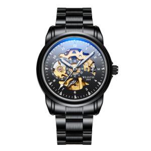 Таким образом Wlisth мужские механические часы из нержавеющей стали из натуральной кожи Автоматический просмотр
