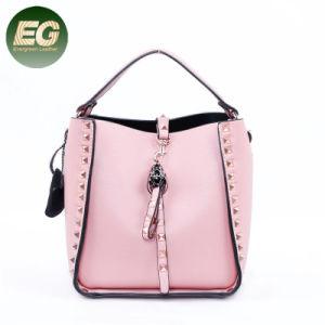 El remache de señoras la moda bolsos de mano de las mujeres de bloqueo de metal Tote Bags SH813