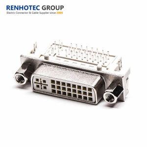90 Grad Revieting Typ 24pin DVI Verbinder mit Unc Mutter