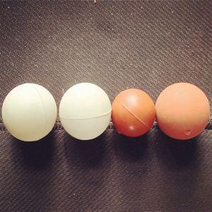 Grau alimentício PU de Limpeza da Peneira peneira vibratória de borracha de silicone Sólido branco a esfera de borracha