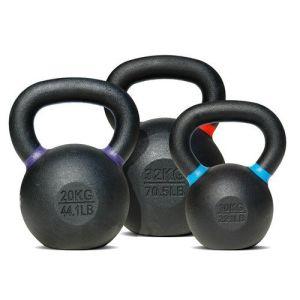 Logotipo personalizado Equipo Gym Fitness entrenamiento con pesas de hierro fundido recubierto de polvo de Kettlebell