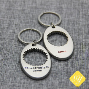 あなた自身のロゴの金属3D Keychainを作りなさい