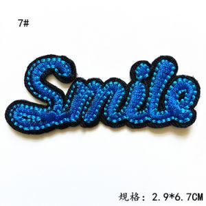 수를 놓은 패치철 에 창조 주문 각종 편지 모양