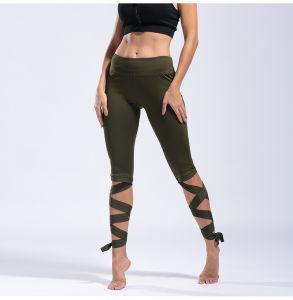 Ghette Lace-up personalizzate calde della signora Yoga Pants Women Sports di forma fisica