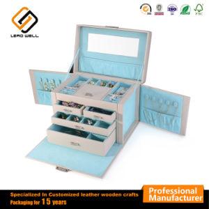 Espelho de joalharia Multifuncional Anel de couro caixa de exibição com gavetas