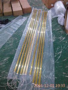 Riscaldatore dorato approvato del quarzo del Ce per essiccamento