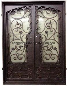 مزدوجة مدخل [ورووغت يرون] باب مع يليّن زجاج