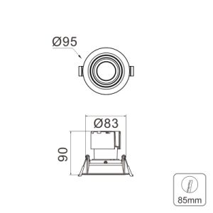 Starwire 0-10V 11W Downlight LED regulable