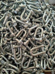 Levantamento de metal em forma D Manilha com alta capacidade e durabilidade