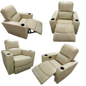 クリーム色カラー居間の家具のリクライニングチェアの革ソファー(K10)